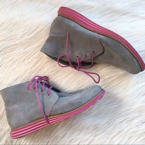 Cole Haan suede ankle booties lunagrand 6B boots
